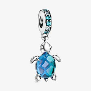 💉Pandora Murano Glass Sea Turtle Dangle Charm